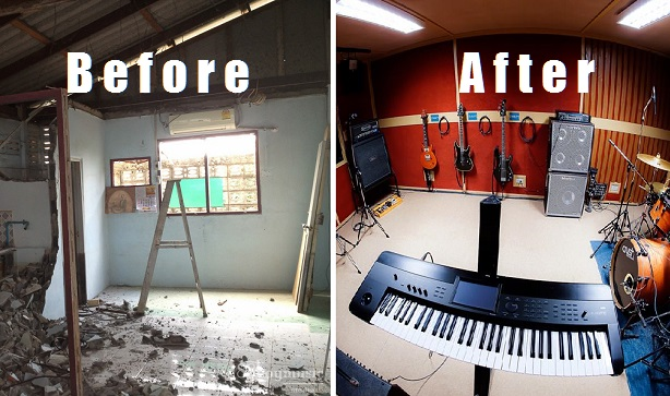 How they took a COMPLETE MESS and turned it into a recording studio