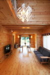 Perfect Dark Wood Tones with Warm, Country Primitive Roof Slope Style
