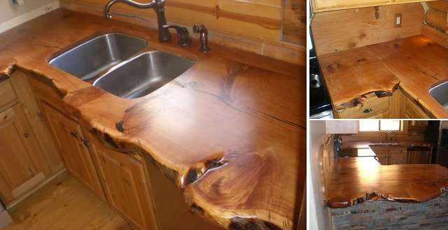 Rustic Countertop For Cabins - a DIY Project