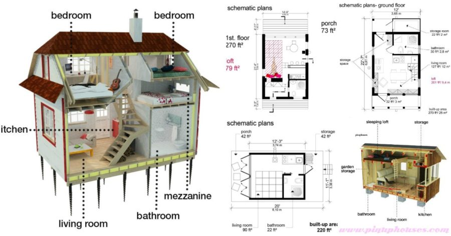 5 plans to build your own fully customized tiny house on a for Build your own home plans