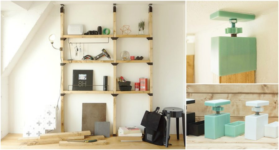 Now You Can Build Shelves With 2x4s With No Nails Or