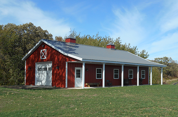 This Great Metal Building Design for a Ranch-Style House or Hobby Shop