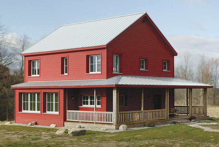 A super energy efficient prefab rural farmhouse for Farmhouse style modular homes