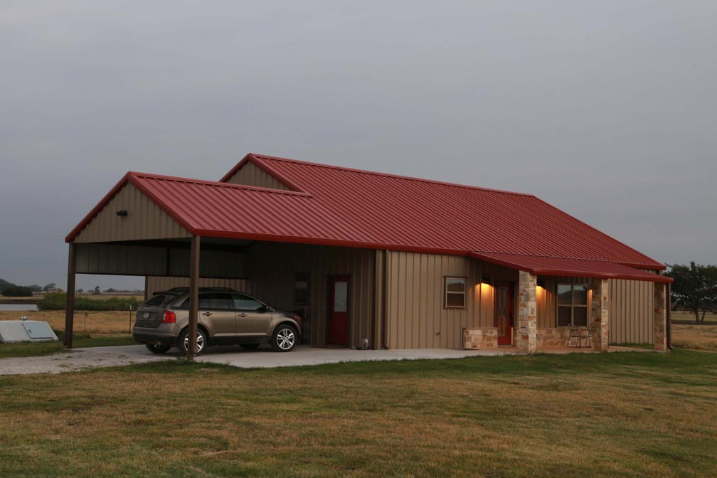 This perfect metal building home will blow you away for Steel barn homes