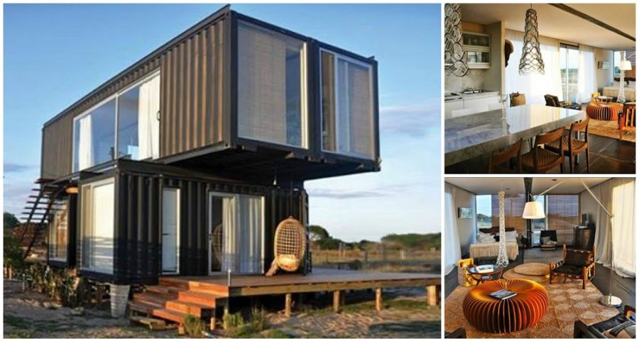 Shipping container home beach house for Cost to build small beach house