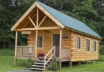Cute Green Log Cabin Kits