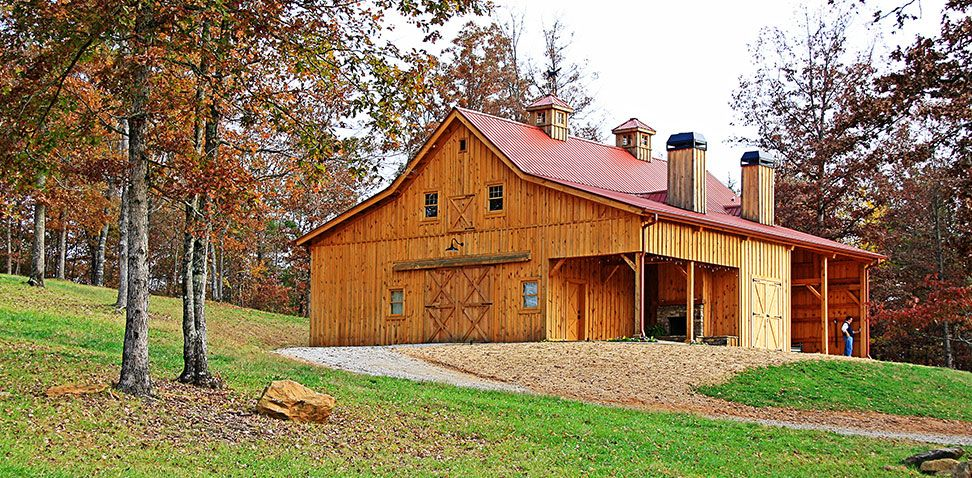 Stunning 24 50 Ponderosa Country Barn Home With An Open