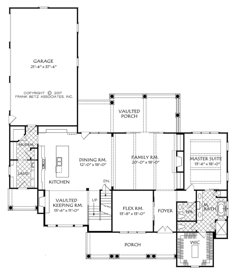 This New Traditional Style Houseplan Features A Beautiful