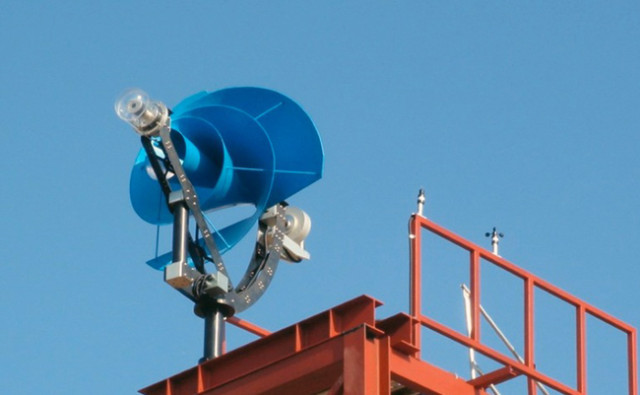 A Silent Rooftop wind turbine that can generate 1,500 kWh of energy per year
