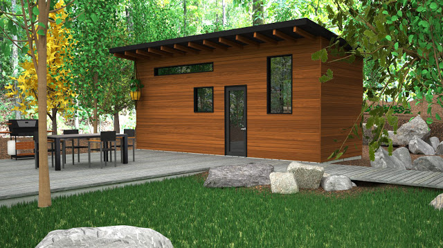 Modern tiny house a great minimal living space 6 for Small minimal house