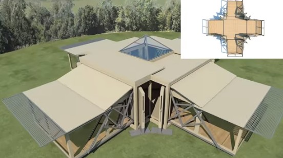 Incredible self-deploying buildings pop up in 8 minutes flat