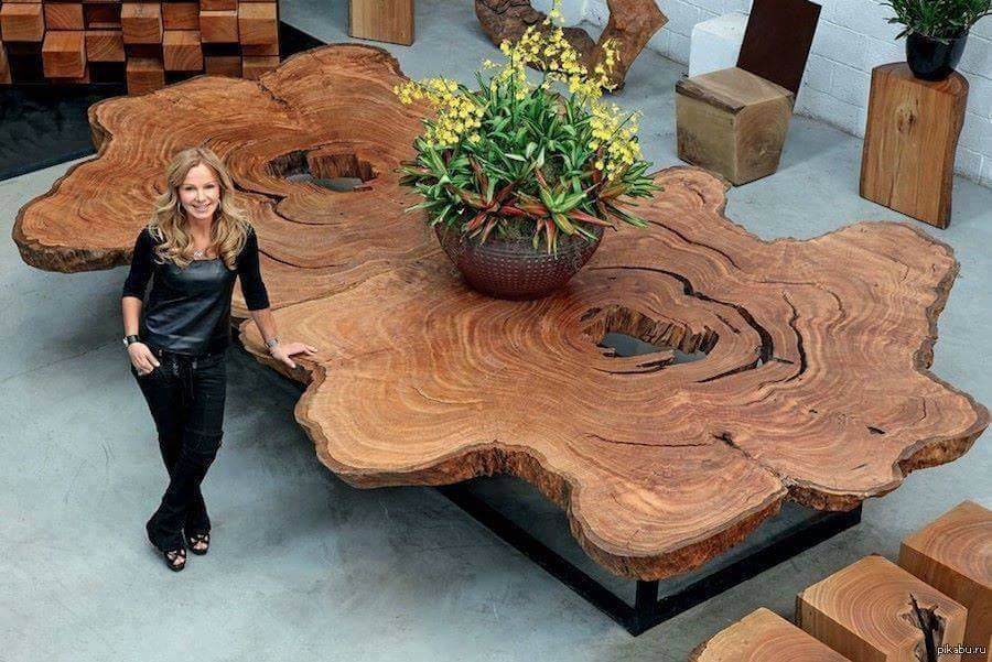 15 Beautiful Artistic Wooden Table Designs