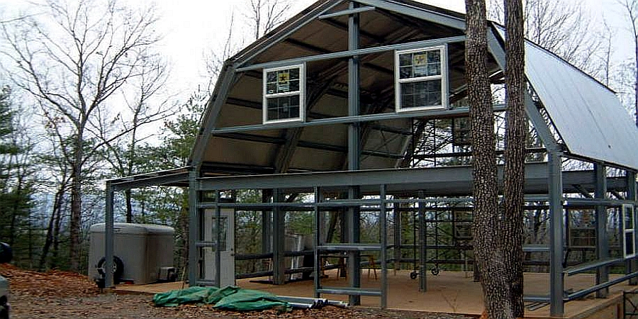 Steel Shell Kit Home, 2 Story 1800 sq ft, $25,480