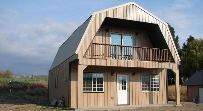 Some Steel Gambrel Frame Houses that start at Under $20K
