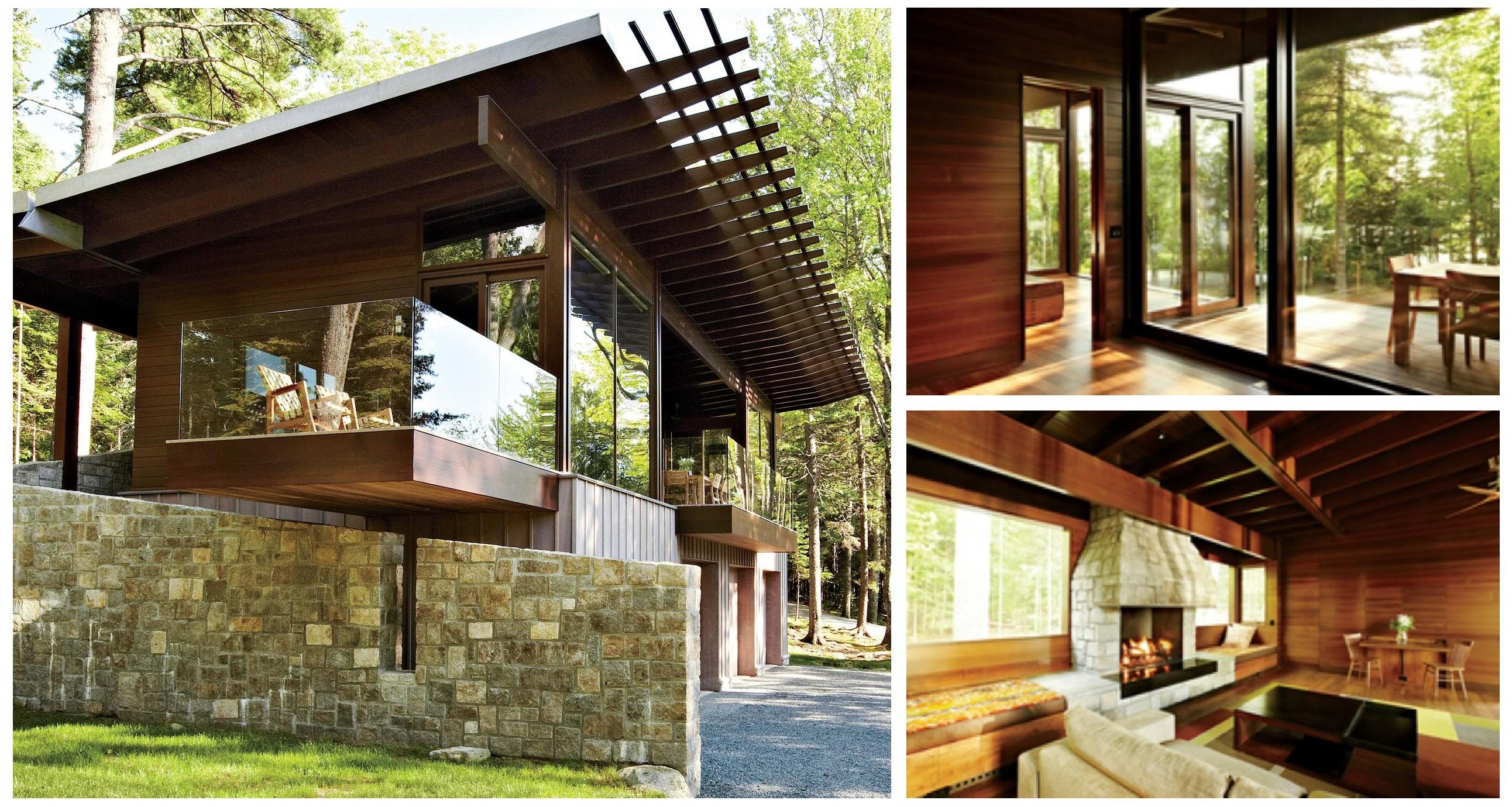 Frank Lloyd Wright Inspired Houses frank lloyd wright-inspired cabin house