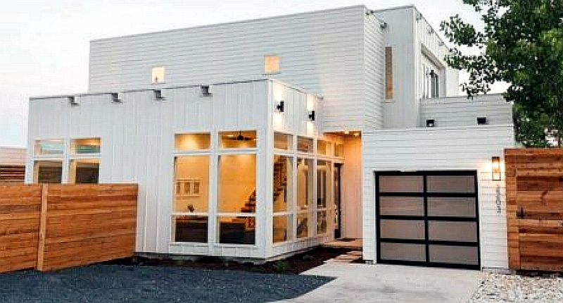 A Shipping Container Home with a Shipping Container Guest House