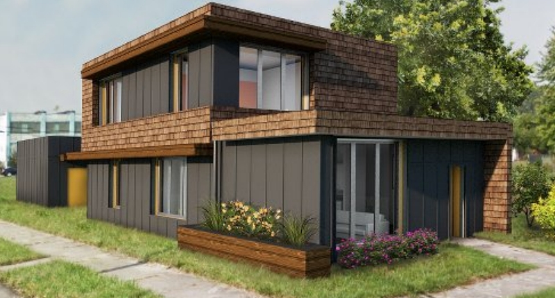 First Zero Energy Home in Detroit Under Construction