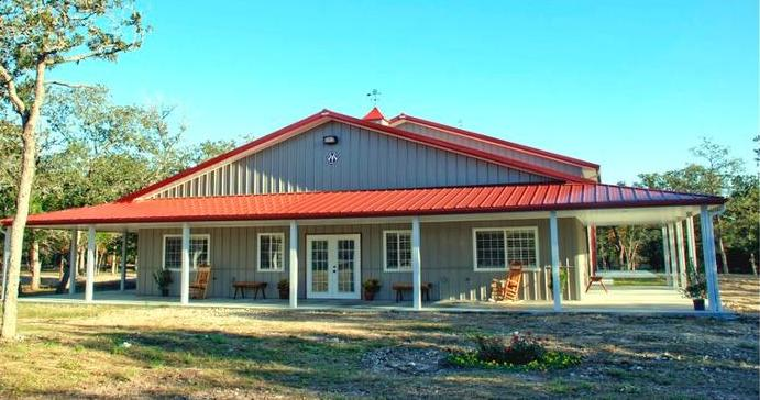 Metal Barn House Perfect for a Small Family