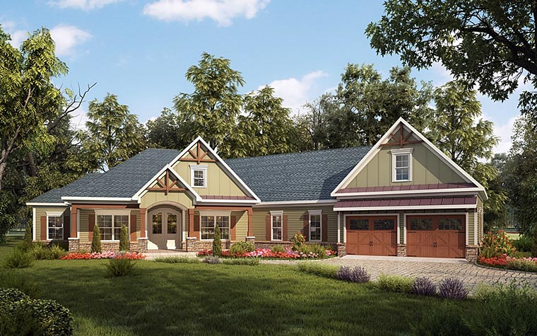 Elegant House with the Elements of Craftsman Style