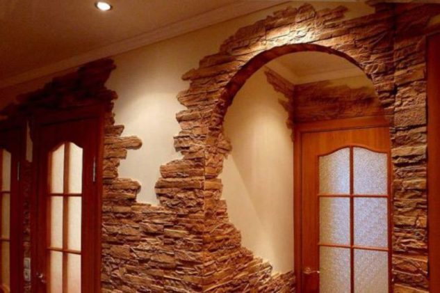 Decorative Stacked Stones Wall