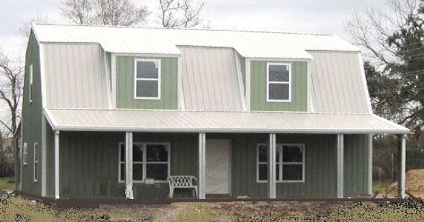 Steel Metal Gambrel Home Building Shell Kit