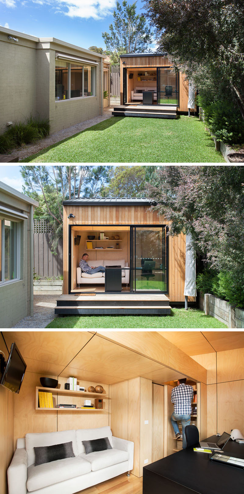 14 Bright Ideas for Backyard Offices, Studios and Guest Houses on Backyard House Ideas id=91726