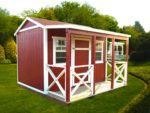 Porch Sheds with Different Styles
