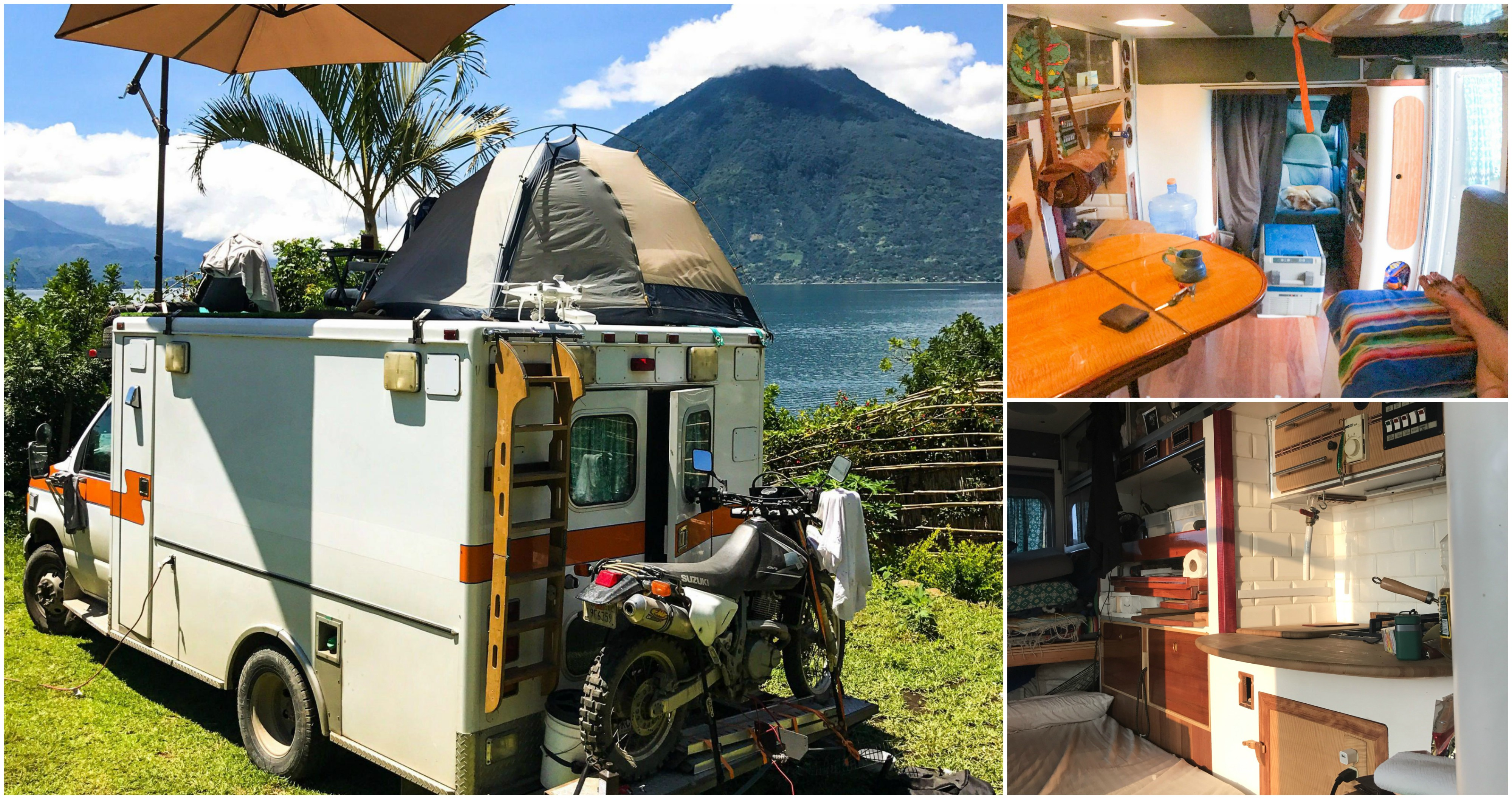 He Bought a Used Ambulance, Turned it into his Home, and Drove South to the Tropics