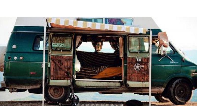 Winter in a van