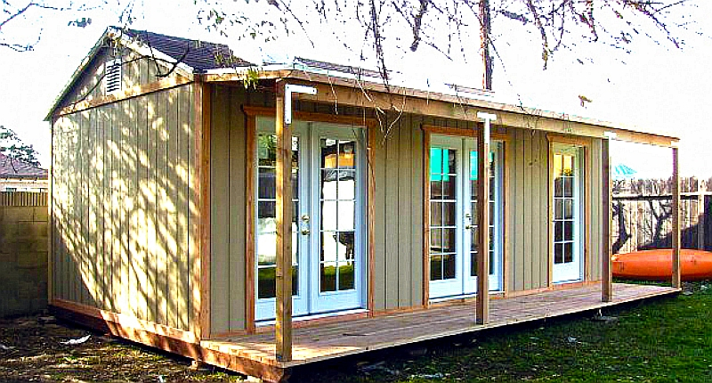 Porch Sheds could really be Cheap Tiny Homes or Guest Houses