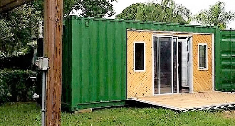 Does it get much simpler? A rustic country container cabin