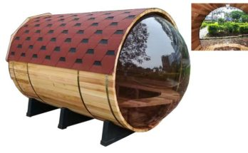 7 Person Pine Indoor Outdoor Wet Dry Barrel Sauna