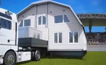 Prefab House unfolds into a Barn House