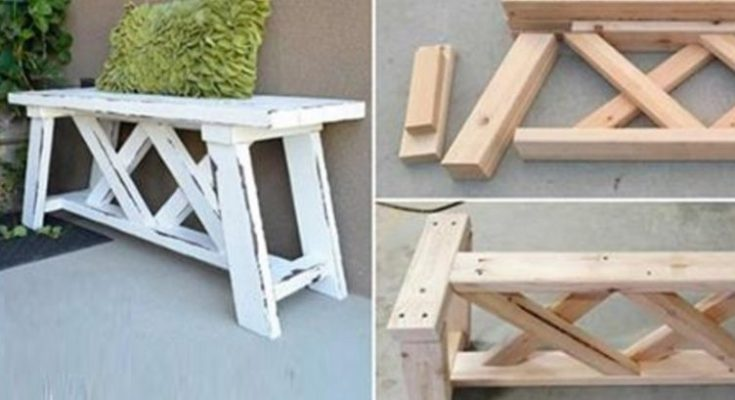 Build a DIY bench for only $13