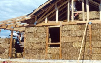 Homes can be built inexpensively using straw bale construction