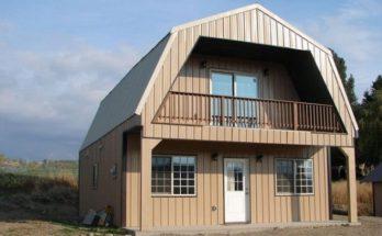 Some Steel Gambrel Frame Houses that start at Under $20K