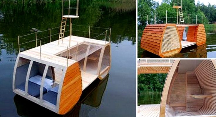 You've Seen Tiny Houses, Now It's a Tiny Personal Houseboat