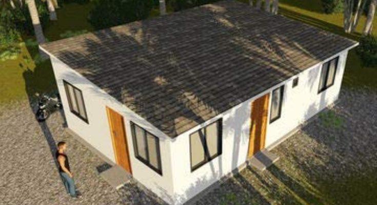 Prefab House, using fast installation light steel, for $1945